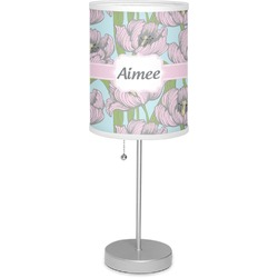 "Wild Tulips 7"" Drum Lamp with Shade (Personalized)"
