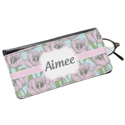 Wild Tulips Genuine Leather Eyeglass Case (Personalized)