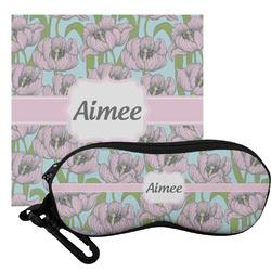 Wild Tulips Eyeglass Case & Cloth (Personalized)