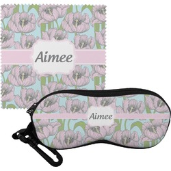 Wild Tulips Eyeglass Case & Cloth (Personalized)