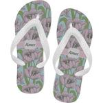 Wild Tulips Flip Flops (Personalized)