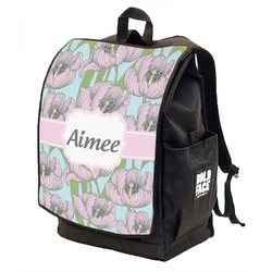 Wild Tulips Backpack w/ Front Flap  (Personalized)