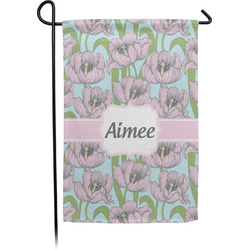 Wild Tulips Garden Flag - Single or Double Sided (Personalized)