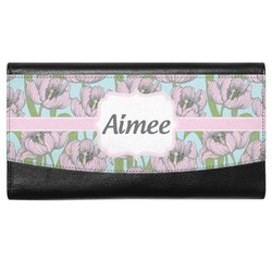 Wild Tulips Genuine Leather Ladies Wallet (Personalized)