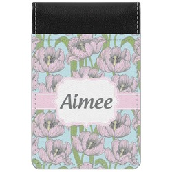 Wild Tulips Genuine Leather Small Memo Pad (Personalized)