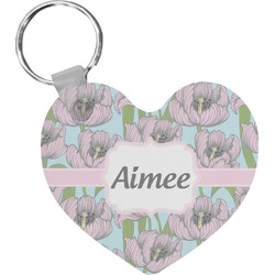 Wild Tulips Heart Keychain (Personalized)