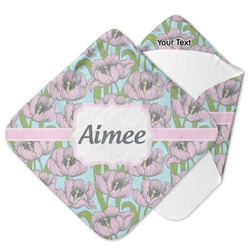 Wild Tulips Hooded Baby Towel (Personalized)