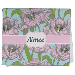 Wild Tulips Kitchen Towel - Full Print (Personalized)