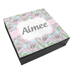 Wild Tulips Leatherette Keepsake Box - 3 Sizes (Personalized)