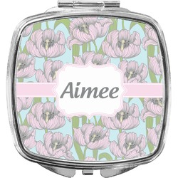 Wild Tulips Compact Makeup Mirror (Personalized)