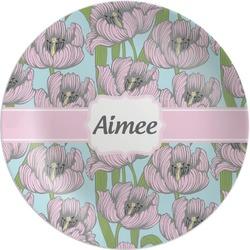 Wild Tulips Melamine Plate (Personalized)