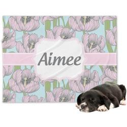 Wild Tulips Minky Dog Blanket (Personalized)