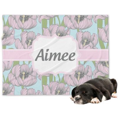 Wild Tulips Dog Blanket (Personalized)