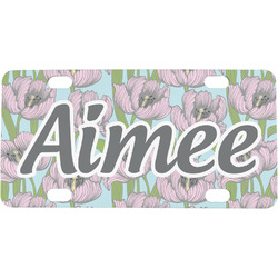 Wild Tulips Mini / Bicycle License Plate (Personalized)