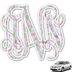 Wild Tulips Monogram Car Decal (Personalized)