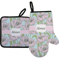 Wild Tulips Oven Mitt & Pot Holder (Personalized)