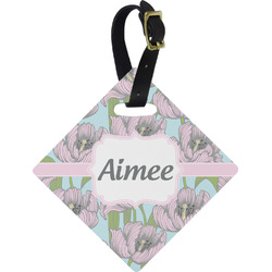 Wild Tulips Diamond Luggage Tag (Personalized)