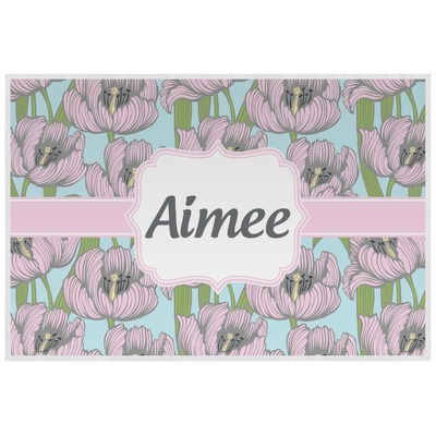 Wild Tulips Laminated Placemat w/ Name or Text