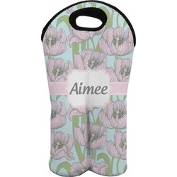 Wild Tulips Wine Tote Bag (2 Bottles) (Personalized)