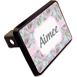 "Wild Tulips Rectangular Trailer Hitch Cover - 2"" (Personalized)"