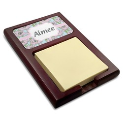 Wild Tulips Red Mahogany Sticky Note Holder (Personalized)