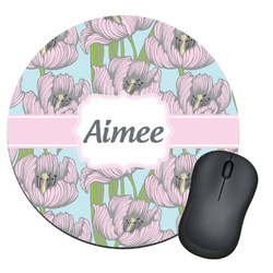 Wild Tulips Round Mouse Pad (Personalized)