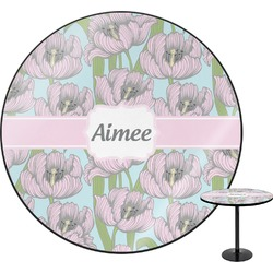 Wild Tulips Round Table (Personalized)