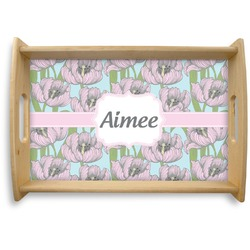 Wild Tulips Natural Wooden Tray (Personalized)