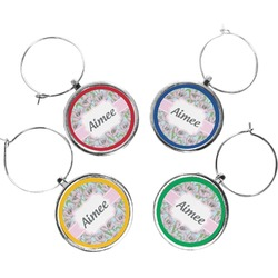Wild Tulips Wine Charms (Set of 4) (Personalized)