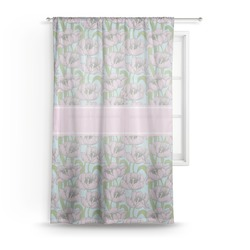 "Wild Tulips Sheer Curtain - 50""x84"" (Personalized)"