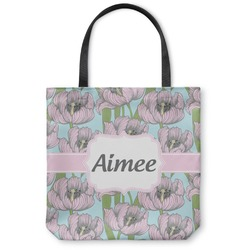 Wild Tulips Canvas Tote Bag (Personalized)