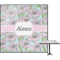 Wild Tulips Square Table Top (Personalized)