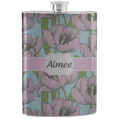 Wild Tulips Stainless Steel Flask (Personalized)