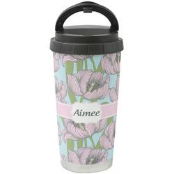 Wild Tulips Stainless Steel Travel Mug (Personalized)