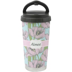 Wild Tulips Stainless Steel Travel Mug (Personalized)