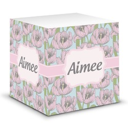 Wild Tulips Sticky Note Cube (Personalized)