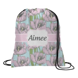 Wild Tulips Drawstring Backpack (Personalized)