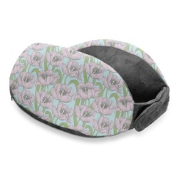 Wild Tulips Travel Neck Pillow (Personalized)