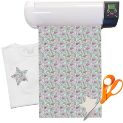 "Wild Tulips Heat Transfer Vinyl Sheet (12""x18"")"