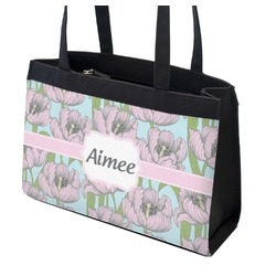 Wild Tulips Zippered Everyday Tote (Personalized)