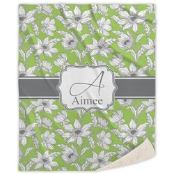 Wild Daisies Sherpa Throw Blanket (Personalized)