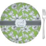 Wild Daisies Glass Appetizer / Dessert Plates 8