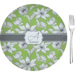 """Wild Daisies Glass Appetizer / Dessert Plates 8"""" - Single or Set (Personalized)"""