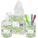 Wild Daisies Acrylic Bathroom Accessories Set w/ Name and Initial
