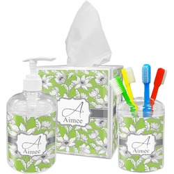 Wild Daisies Bathroom Accessories Set (Personalized)