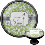 Wild Daisies Cabinet Knob (Black) (Personalized)