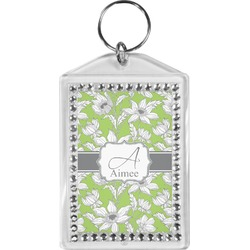 Wild Daisies Bling Keychain (Personalized)