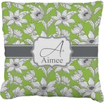 Wild Daisies Burlap Throw Pillow (Personalized)