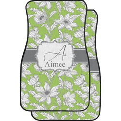 Wild Daisies Car Floor Mats (Front Seat) (Personalized)