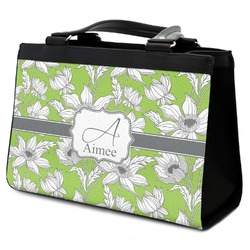 Wild Daisies Classic Tote Purse w/ Leather Trim (Personalized)